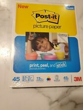 """Post-It Picture Paper 8.5"""" x 11"""" Gloss 45 Sheets 7.5mil Thick 45lb/170GSM Weight"""