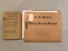 USS Hall Handwritten 1953 Daily Log Diary USN Navy Officer Service Record