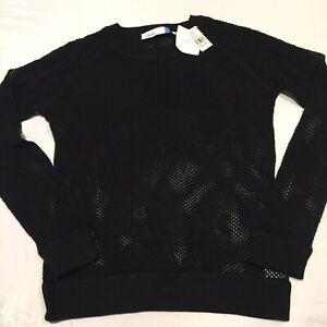 NWT Urbane Ladies Black Pullover LG 55% Acrylic 45% Cotton Essentials