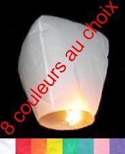 lanternes volantes célestes thailandaises chinoises différentes couleurs