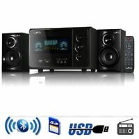 BEFREE SOUND 2.1 CHANNEL SURROUND SOUND BLUETOOTH SPEAKER SYSTEM USB SD FM RADIO