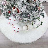 Long Fluff Snow Plush Christmas Tree Mat Cover Holiday Decotation Skirt Carpet