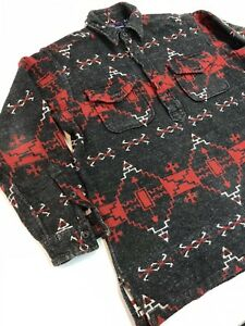 Polo Ralph Lauren Pullover Southwestern Navajo Beacon  Flannel Cotton Shirt M