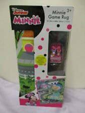 """Disney Minnie Mouse 31.5"""" x 44"""" Game Rug For Kids with Happy Helpers Van - NEW"""