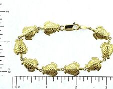 """14KT. Gold 12mm  BR2-ST12MM Sea Turtle 7"""" Bracelet FIne Jewelry"""