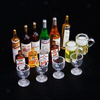 Dollhouse Pub Miniature Avec Bouteilles Boisson Vin De Whisky, Gobelets,