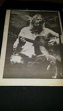 Nirvana Kurt Cobain Rare Original U.K. Promo Poster Ad Framed!