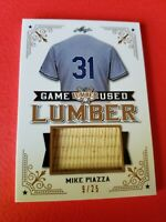 MIKE PIAZZA JUMBO GAME USED BAT CARD #d9/25 DODGERS METS 2021 LEAF LUMBER