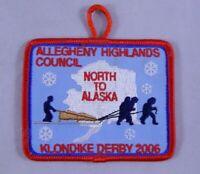 Boy Scouts Allegheny Highlands Council North To Alaska Klondike Derby Patch 2010