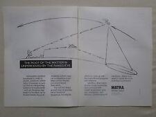 6/1989 PUB MATRA DEFENSE ESPACE DRONE MISSILE SATELLITE ARMEE AIR ORIGINAL AD