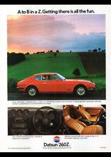 "1978 NISSAN DATSUN 260Z AD A4 POSTER GLOSS PRINT LAMINATED 11.7""x8.3"""