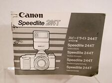 1982 Vintage Canon Speedlite 244T Instructions Manual ~ Free Shipping!