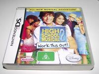 High School Musical 2 Work This Out Nintendo DS 2DS 3DS Game *Complete*