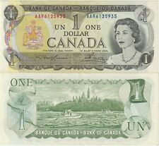 Canada 1 Dollar Banknote 1973 About Uncirculated Condition,Pick#85-A