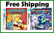 2 Games Digimon Word Dusk & Digimon World Dawn DS DS Lite DSi DSiXL 3DS *