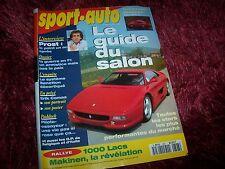 Magazine SPORT AUTO N 393 10/94 Guide Salon / PORSCHE 911 Carrera 4 / Formule 1/