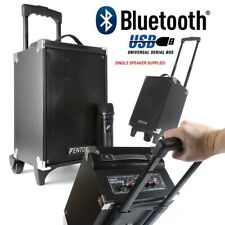 "CASSA AMPLIFICATA BLUETOOTH PORTATILE TROLLEY RICARICABILE 260W 8"" USB-SD + MIC."