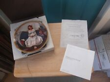 """Edwin Knowles Collector Plate Norman Rockwell """"Waiting At The Dance"""" in Box"""