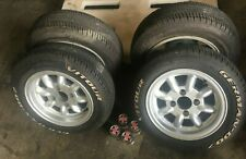 AUSTIN ROVER MINI, CLASSIC MINI COOPERSET OF 4 (FOUR) WHEELS & TIRES USED