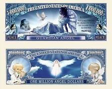 Guardian Angel Million Dollar Bill Fake Funny Money Novelty Note + FREE SLEEVE