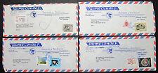 El Salvador 4x Luftpost Brief mit Briefmarken und Stempel (H-8809+