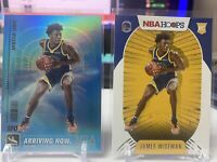 James Wiseman 2020-2021 Nba Hoops Arriving Now Holo SP Rookie Golden State BASE