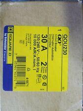 Nib Square D Qou230 2 Pole 30 Amp 120/240 Volt Feed Through Panel Mount Breaker