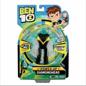 Ben 10 Deluxe Power Up Figure - Diamondhead with Light and Sound