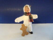 Byers Choice Carolers Child Toddler White Snowsuit Scarf