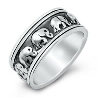 """NEW Sterling Silver 925 """"ELEPHANT"""" DESIGN RING SIZES 6-11"""