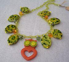 Vintage style plastic owl necklace