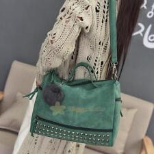 Fashion Women PU Handbag Messenger Rivet Shoulder Bag Tote Ladies Purse Bags LOT