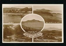Scotland Ayrshire ISLE OF ARRAN Whiting Bay M/view RP PPC used c1950s
