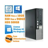 MINI COMPUTER DESKTOP DELL OPTIPLEX 990 USFF I5 2400S WINDOWS 10 GRADO B-