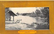 Joliet IL~Family in a Canoe @ Highland Park on Hiclory Lake~Frame Border c1910