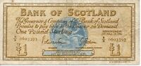 Bank Of Scotland 1 Pound Banknote 1967 As Pictured