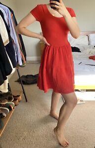 Sandro Red Summer Dress Size S