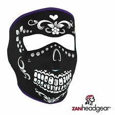 Zan Headgear Neoprene Full Face Mask Black White Muerte Cold Weather Gear Riding