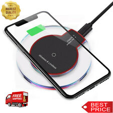 Qi Wireless Charger Charging Pad for iPhone 11/XS/Max/Pro/8/Galaxy Note 10/S10/+