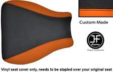 BLACK AND ORANGE VINYL CUSTOM FITS HONDA CBR 600 RR8 07-11 SEAT COVER ONLY