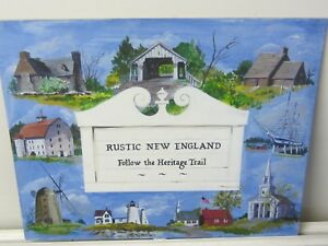 Original Oil of a New England U.S.A. Trail Heritage Poster by Nicolette Atwood