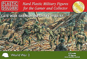 Plastic Soldier 1/72 WWII Late War German Infantry # WW2020003 - bagged not box
