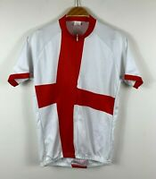 Foska Mens Cycling Jersey England Flag Design Size Medium 3/4 Zip Short Sleeve