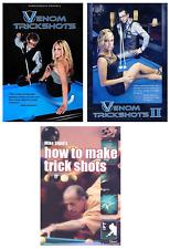 Venom Trick Shots Vol 1 & 2 and Mike Sigel Pool Trick Shots - Instructional DVDs