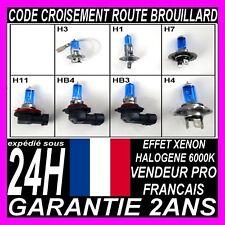 AMPOULE LAMPE FEU PHARE EFFET XENON H1 H4 H7 H3 HB3 HB4 6000K FEUX 12V 55W MOTO
