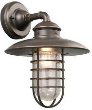 1 Light Outdoor Exterior Bronze Fixture Porch Patio Lamp Wall Lantern Lighting