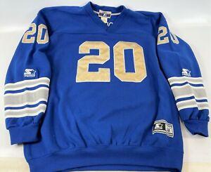 Vintage Starter Classic Barry Sanders #20 Detroit Lions Sweatshirt Jersey XL