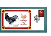 2017 YEAR OF THE ROOSTER SOUVENIR COVER- ANDULUSIAN ROOSTER #2