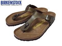 Authentic New Birkenstock Women'sThong Gizeh Sandal Birk Buc FlipFlop Mocca NIB