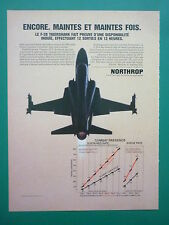 5/1984 PUB NORTHROP F-20 TIGERSHARK USAF TACTICAL FIGHTER ORIGINAL FRENCH AD